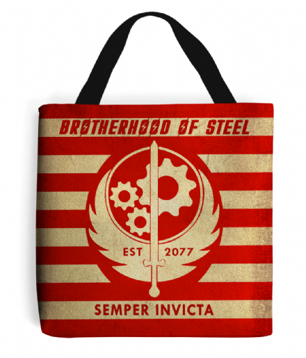 Fallout Inspired Brotherhood of Steel Design Tote Bag